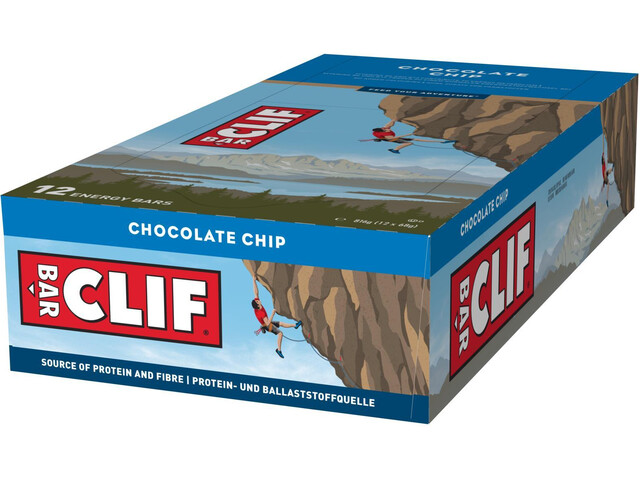 CLIF Bar Energy Riegel Box 12x68g Chocolate Chip